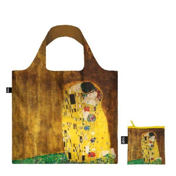 "BOLSA PLEGABLE ""MUSEUM"" GUSTAV KLIMT The Kiss 1907-08 -LOQI-"