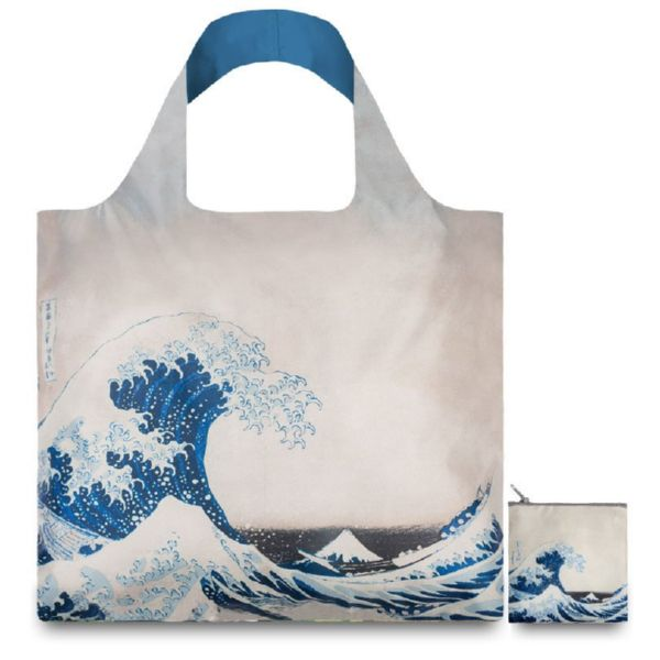 "BOLSA PLEGABLE ""MUSEUM"" HOKUSAI The great wave -LOQI-"