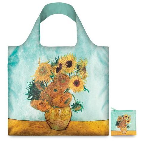 "BOLSA PLEGABLE ""MUSEUM"" VAN GOGH Vase with sunflowers -LOQI-"