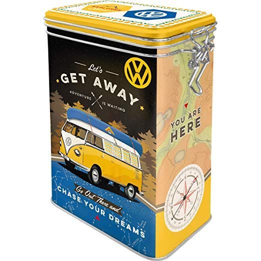 "CAJA DE METAL clip ""VW BULLI - Let's get Away!"" N.A."