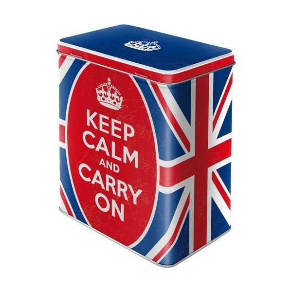 "CAJA DE METAL L ""KEEP CALM"" N.A."