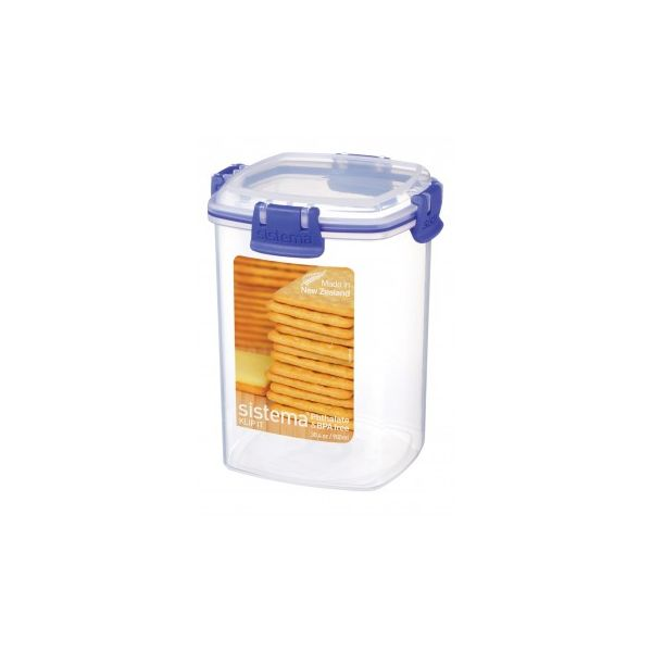 FIAMBRERA 900 ml. HERMETICA CRACKER SIN BPA KLIP IT SISTEMA
