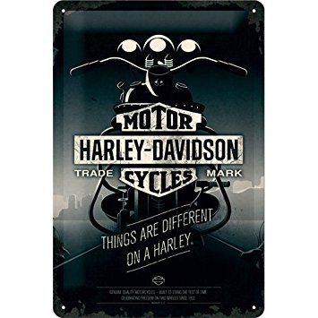 "PLACA DE METAL 20 x 30 cm ""HARLEY THINGS ARE DIFFERENT"" Nostalgic Art"
