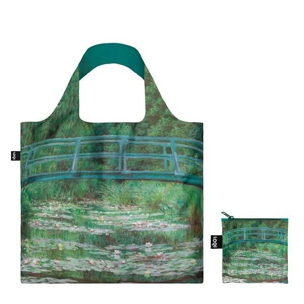 "BOLSA PLEGABLE ""MUSEUM"" CLAUDE MONET Japanese Footbridge  -LOQI-"
