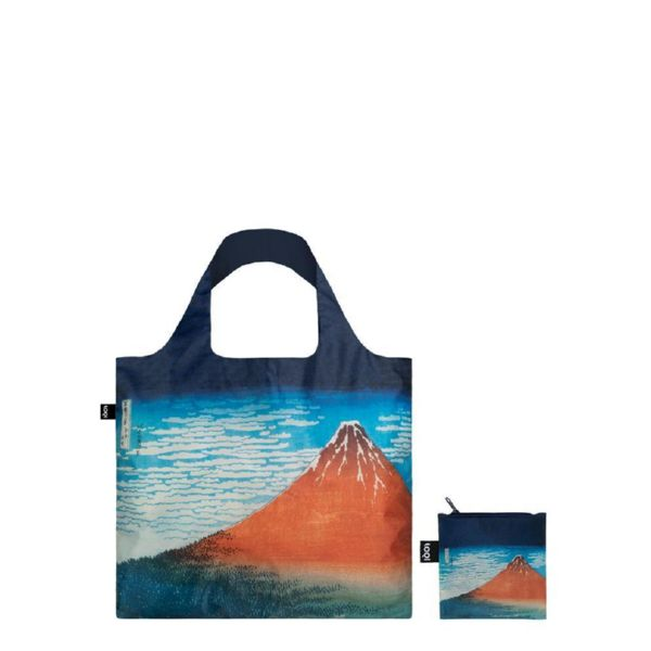 "BOLSA PLEGABLE ""MUSEUM"" HOKUSAI Red Fuji Mountains in Clear Weather -LOQI-"