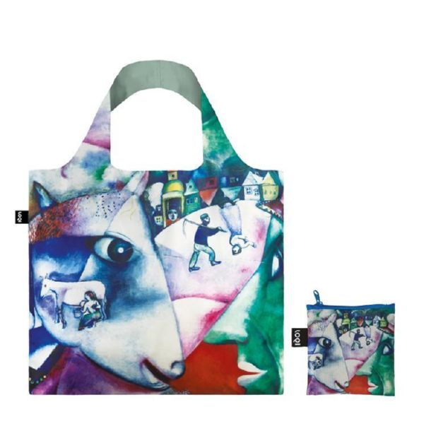 "BOLSA PLEGABLE ""MUSEUM"" MARC CHAGALL I and the village -LOQI-"