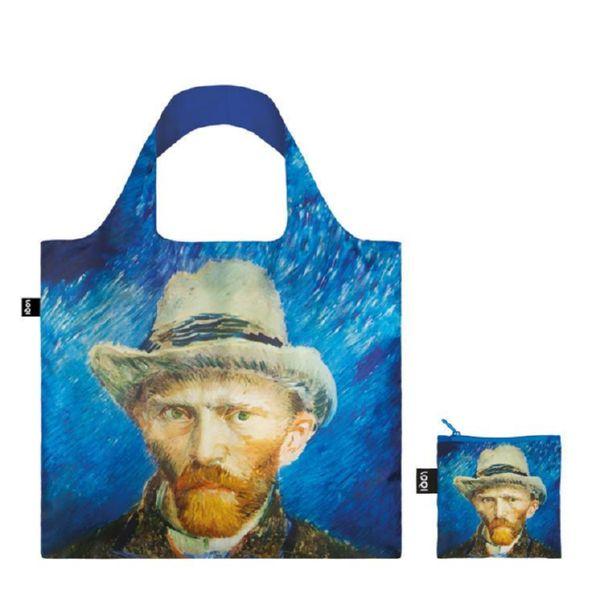 "BOLSA PLEGABLE ""MUSEUM"" VAN GOGH Self portrait with grey felt hat -LOQI-"