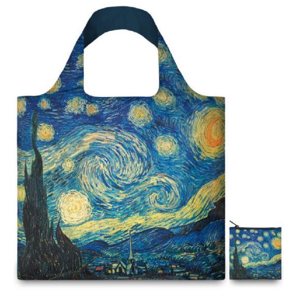 "BOLSA PLEGABLE ""MUSEUM"" VAN GOGH The starry night -LOQI-"