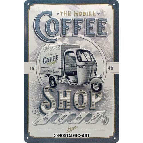"PLACA DE METAL 20 x 30 cm ""APE - COFFEE SHOP"" Nostalgic Art"