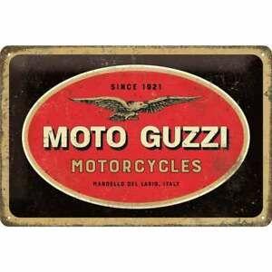"PLACA DE METAL 20 x 30 cm ""MOTO GUZZI LOGO"" Nostalgic Art"