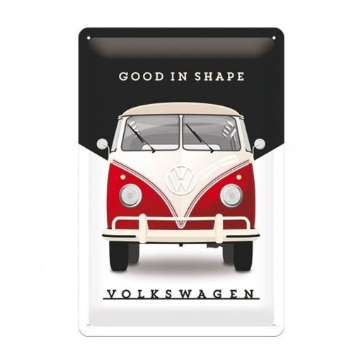 "PLACA DE METAL 20 x 30 cm ""VW GOOD IN SHAPE"" Nostalgic Art"